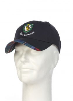 Royal Dornoch Tartan Trim Baseball Cap Navy