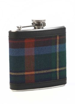 Royal Dornoch tartan hip flask