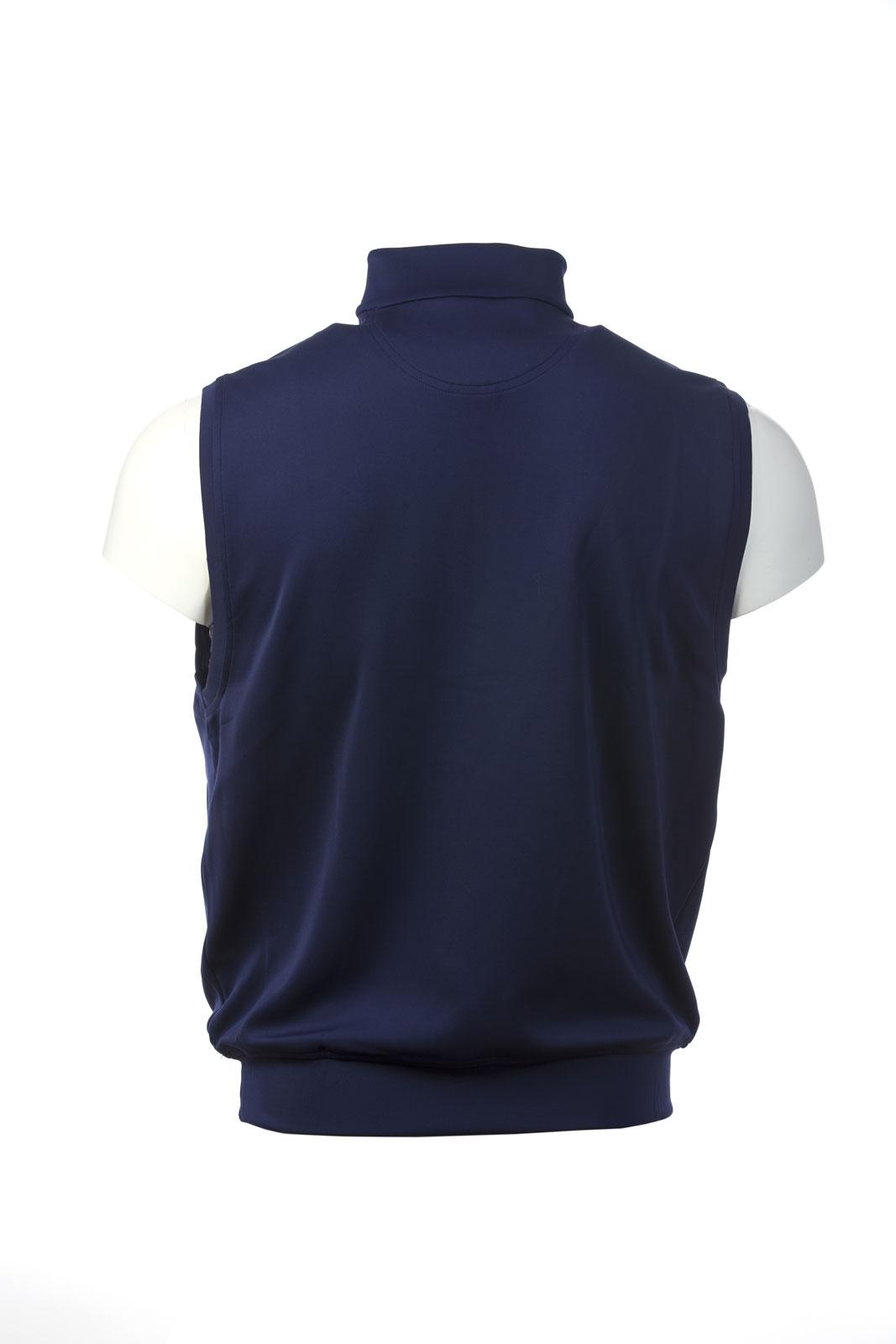 Donald Ross Tech Vest With Quarter Zip Royal Dornoch Pro