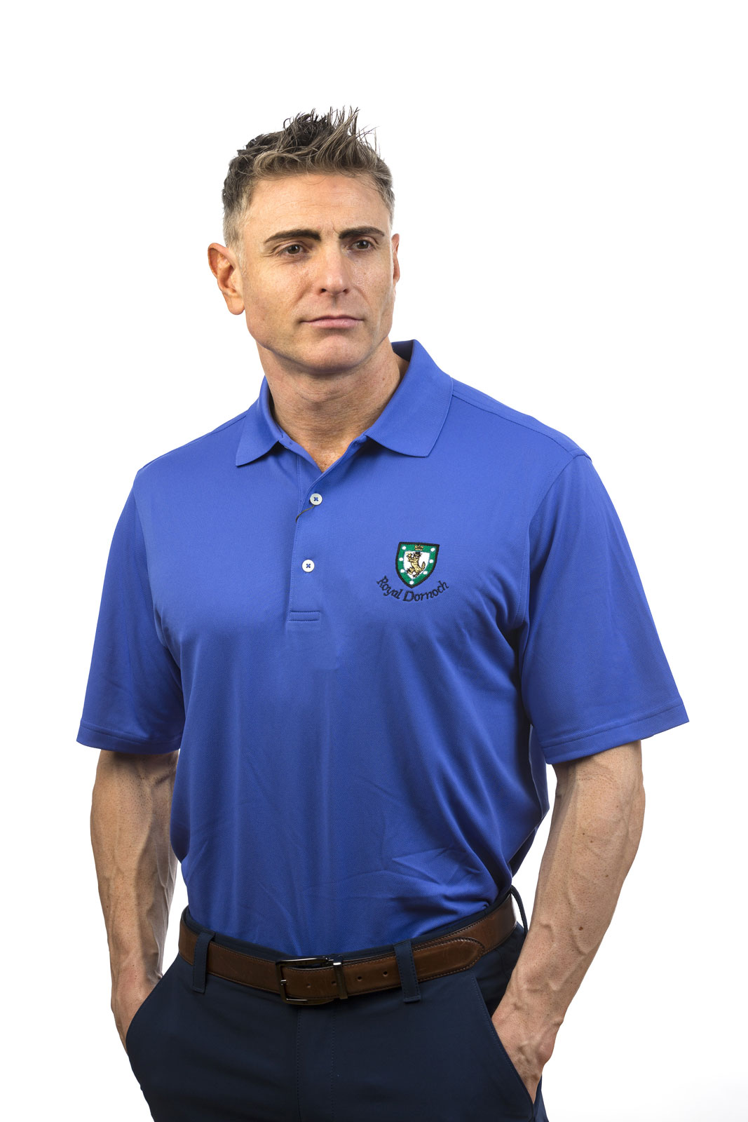 Donald Ross Performance Solid Shirt Royal Dornoch Pro Shop