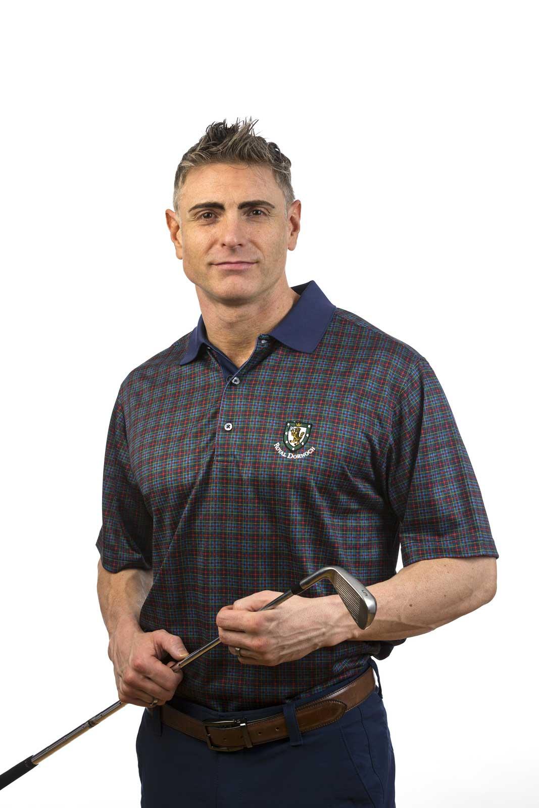 Donald Ross Tartan Tech Shirt Royal Dornoch Pro Shop