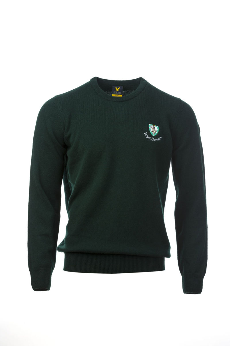 Lyle & Scott Crew Neck dark greee