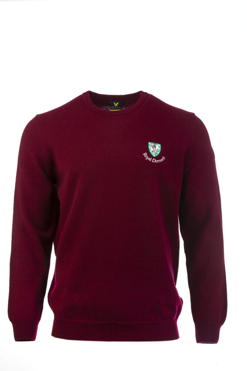 Lyle & Scott Crew neck-Dark red