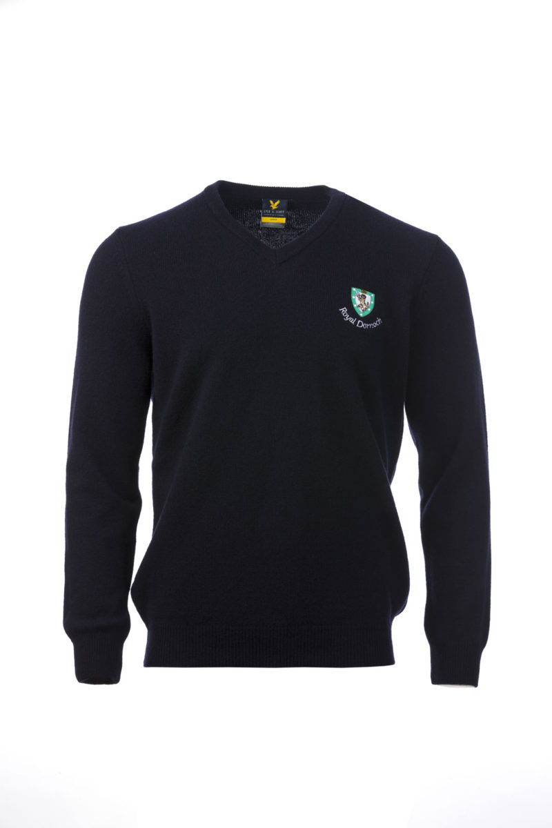 Lyle & Scott V Neck Navy