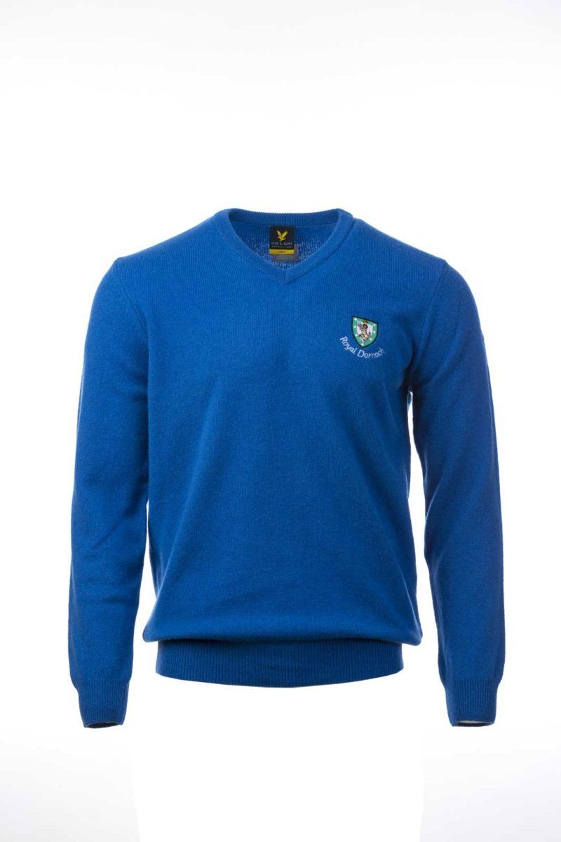 Lyle & Scott V Neck Royal Blue