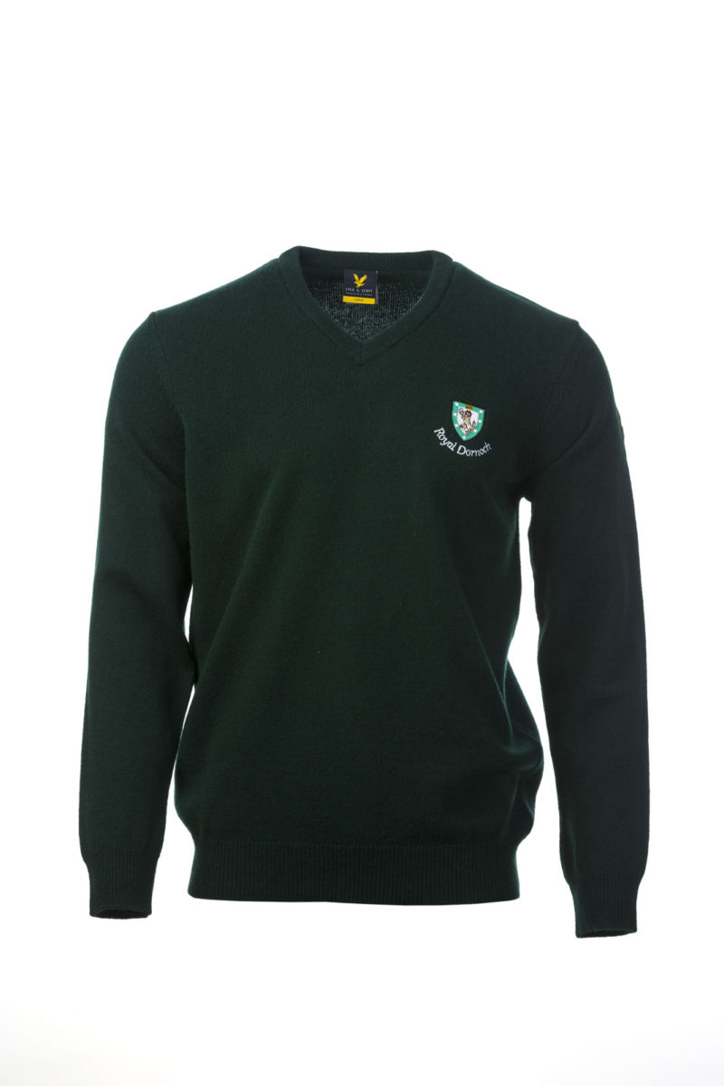 Lyle & Scott V Neck Dark Green