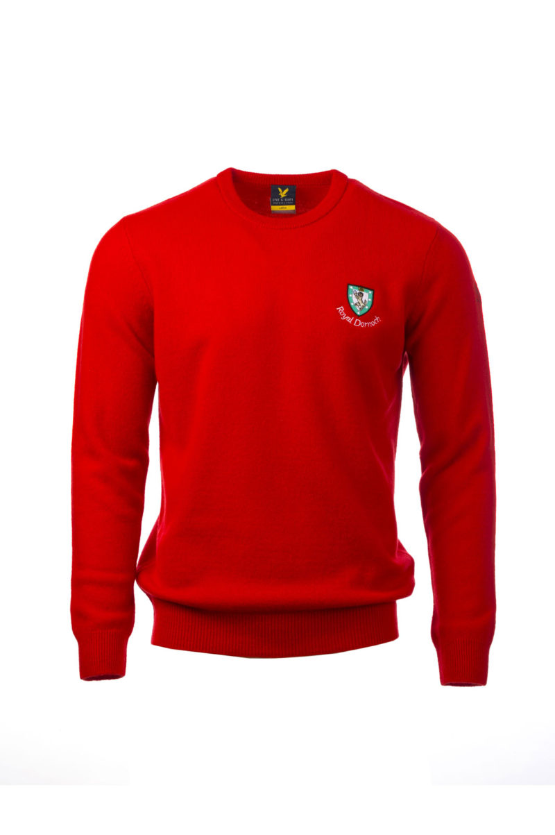 Lyle-&-Scott Crew Neck, red