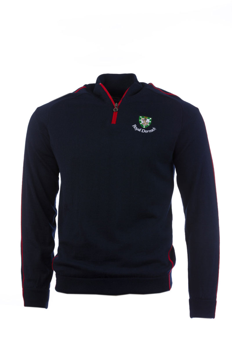 Sunderland-2-Tone-Lined-Sweater Navy red