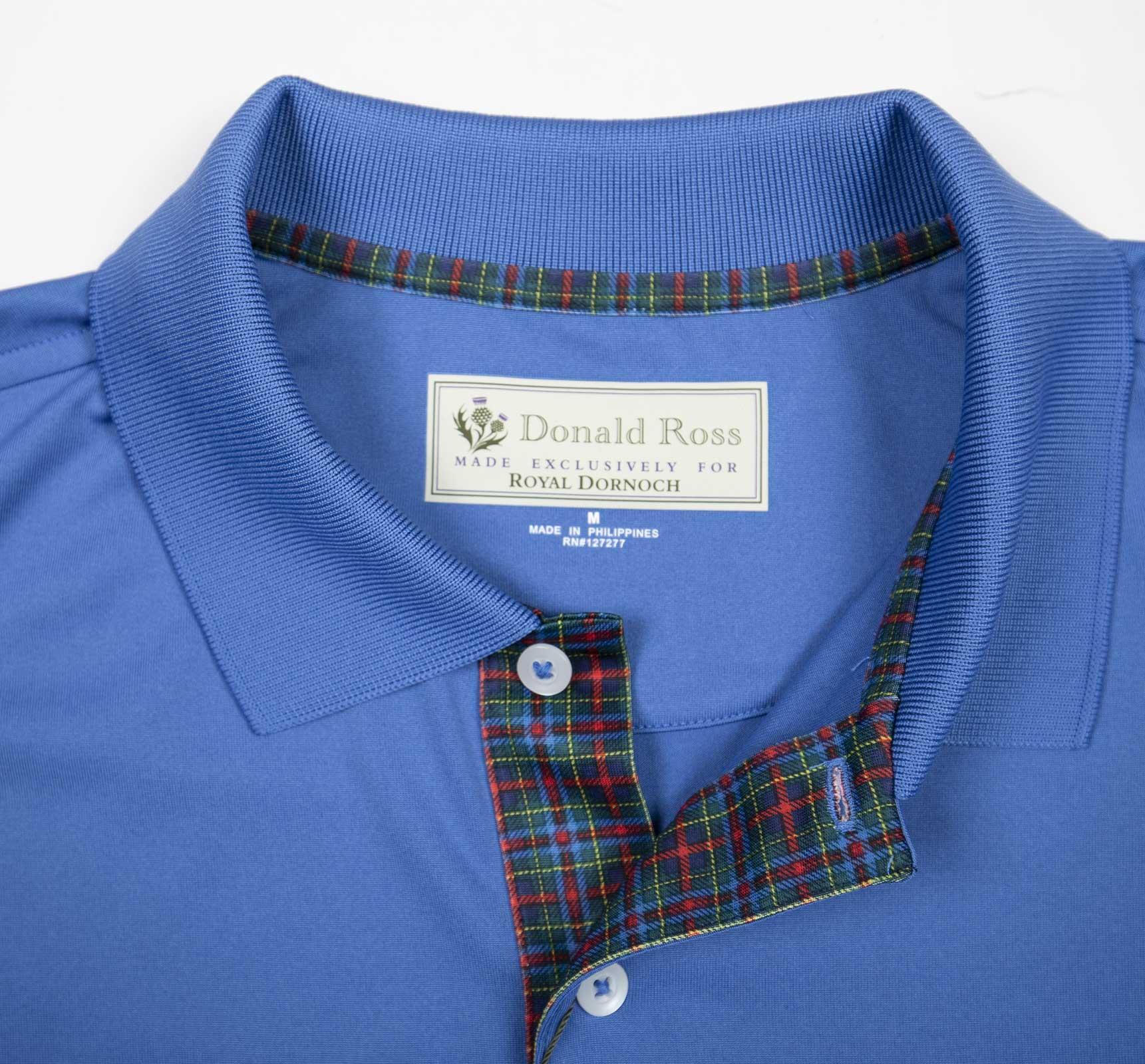 Car Battery Size Chart >> Donald Ross Solid Tartan Shirt - Royal Dornoch Pro Shop