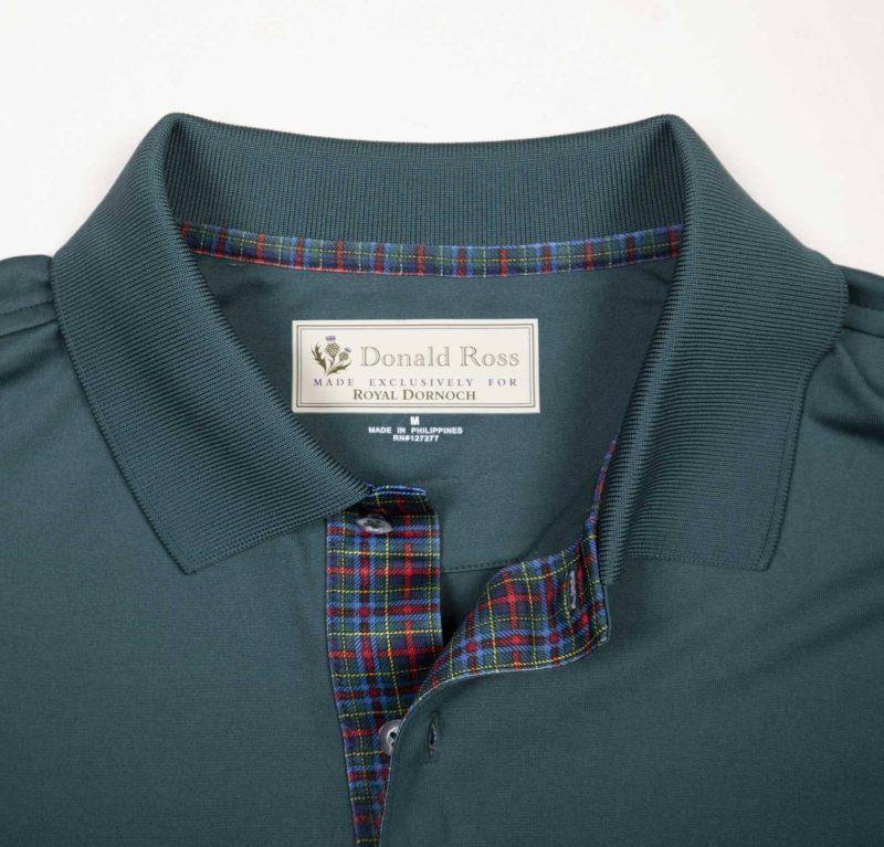 Donald Ross Tartan range shirt -green