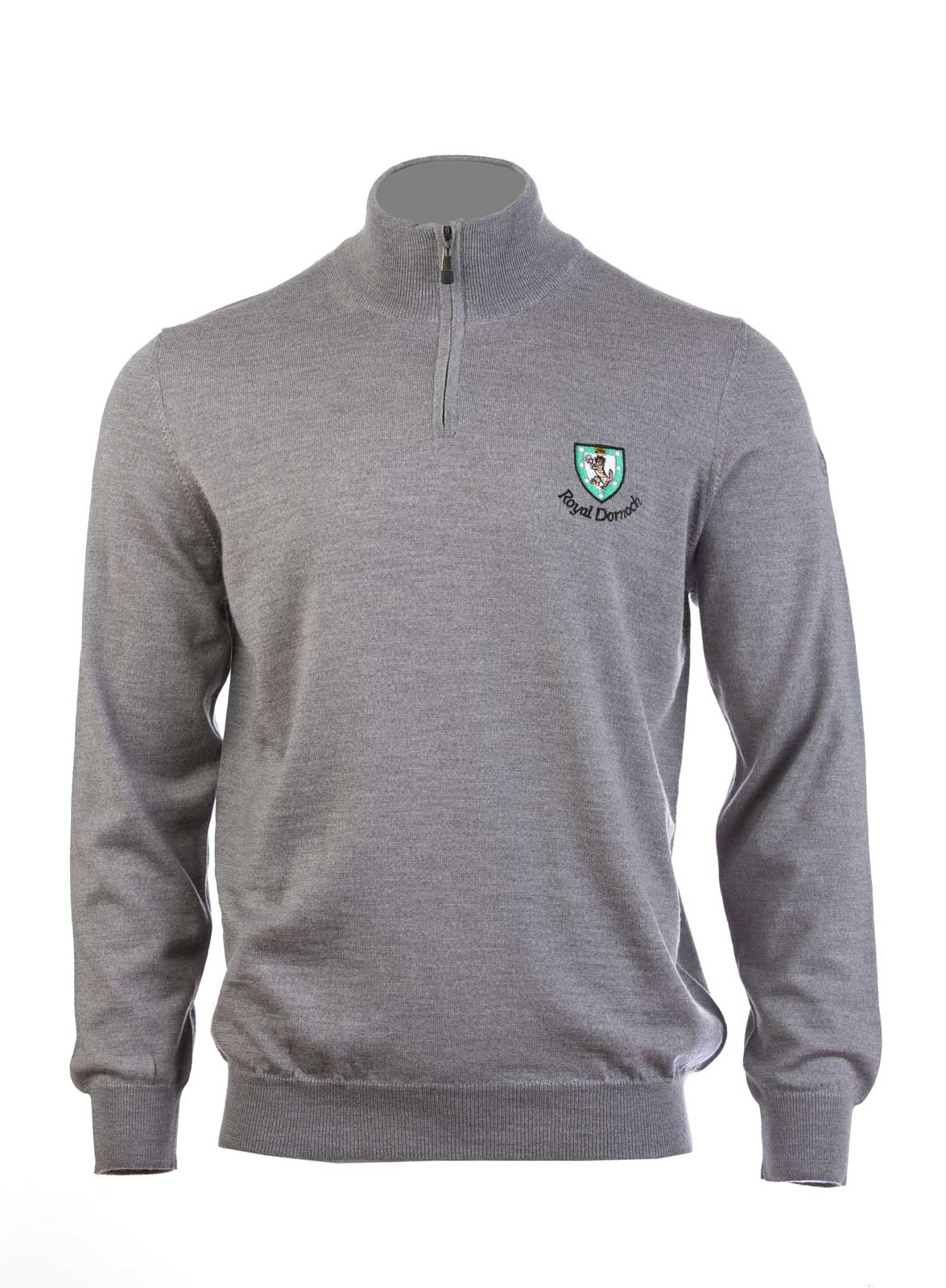 Truck Bed Size Chart >> Lyle & Scott 100% Merino Wool Zip Neck Sweater - Royal ...