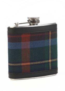 Royal Dornoch tartan hip flask