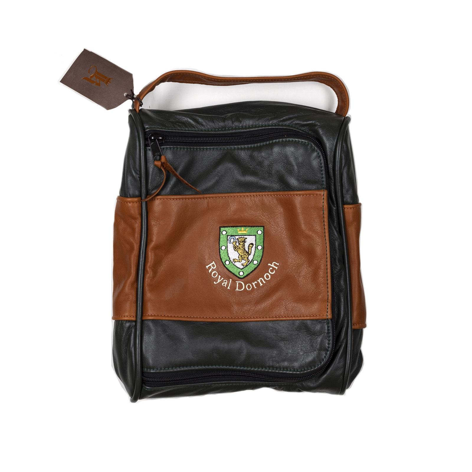 Links Amp Kings Leather Shoe Bag Royal Dornoch Pro Shop